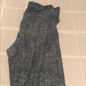 Lularoe OS leggings. Never worn. Blue and grey.